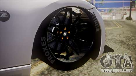 Nissan 370Z SPPC para GTA San Andreas vista posterior izquierda