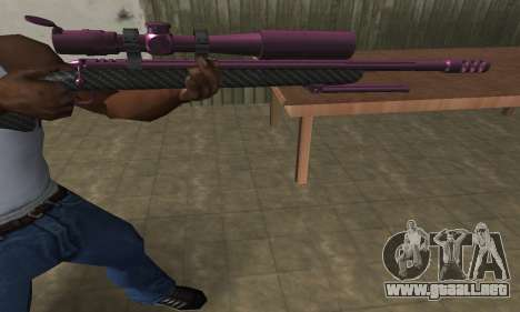 Purple Sniper Rifle para GTA San Andreas tercera pantalla