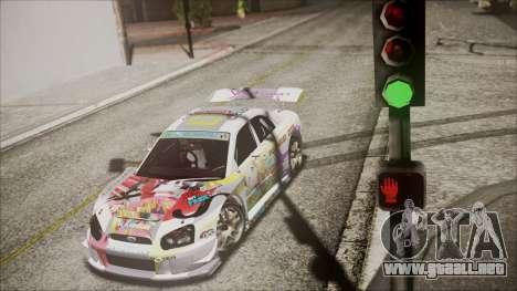 Subaru Impreza 2003 Love Live Muse Team Itasha para GTA San Andreas