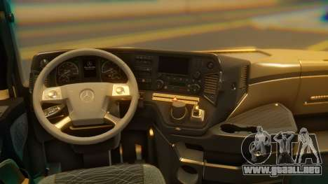 Mercedes-Benz Actros MP4 Stream Space Black para GTA San Andreas vista hacia atrás