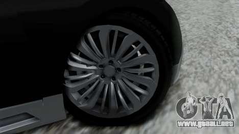Truffade Adder Hyper Sport para GTA San Andreas vista posterior izquierda