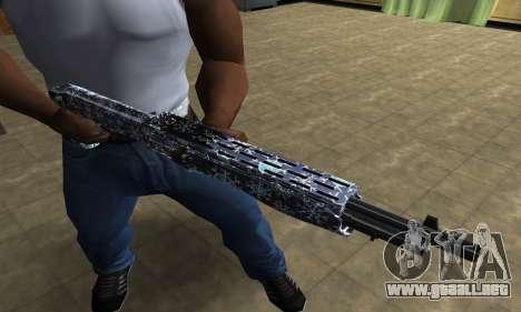 Snowflake Combat Shotgun para GTA San Andreas tercera pantalla