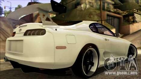 Toyota Supra 1998 E-Design para GTA San Andreas left