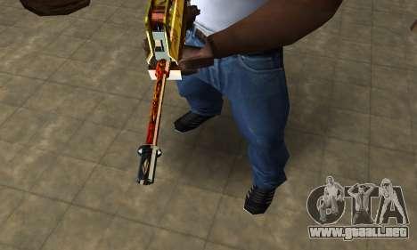 Golden AUG A3 para GTA San Andreas segunda pantalla