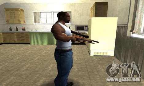 Gold Sniper Rifle para GTA San Andreas segunda pantalla