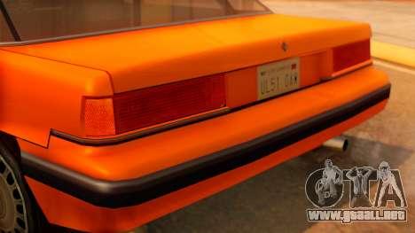 Taxi Intruder para GTA San Andreas vista hacia atrás