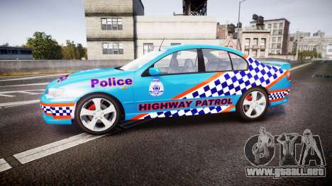 Ford Falcon BA XR8 Police [ELS] para GTA 4 left