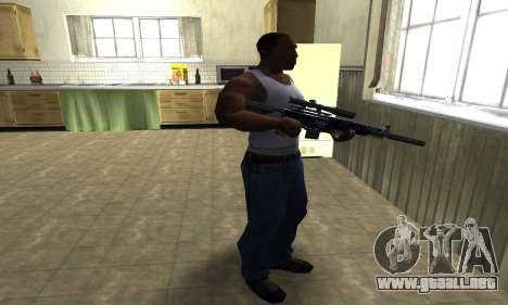 Blue Oval Sniper Rifle para GTA San Andreas tercera pantalla