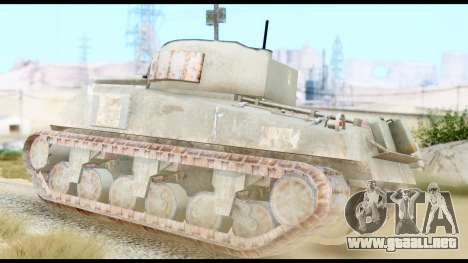 M4 Sherman 75mm Gun Urban para GTA San Andreas left