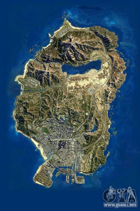 Mapa satelital en 2K para GTA 5