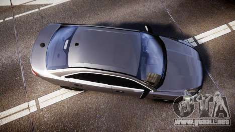 Ford Taurus 2010 Unmarked Police [ELS] para GTA 4 visión correcta