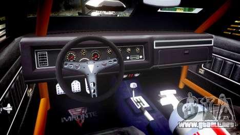 GTA V Imponte Duke O Death [HD Interior] para GTA 4 vista hacia atrás