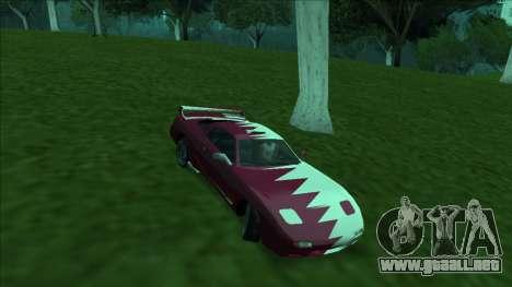 ZR-350 Double Lightning para GTA San Andreas interior