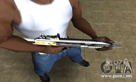 Gold AUG para GTA San Andreas