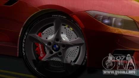 BMW Z4 sDrive35is 2011 2 Extras para GTA San Andreas vista posterior izquierda