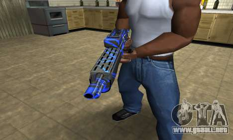 Blue Lines Combat Shotgun para GTA San Andreas segunda pantalla