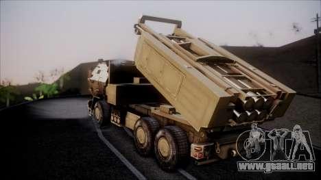 M142 HIMARS Desert Camo para GTA San Andreas left