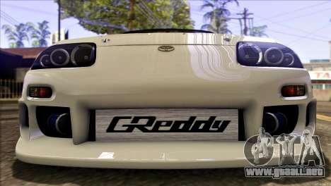 Toyota Supra 1998 E-Design para vista lateral GTA San Andreas