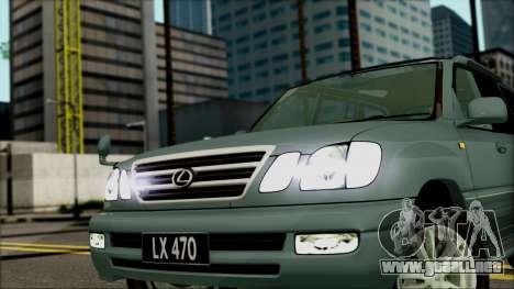 Lexus LX470 para la visión correcta GTA San Andreas