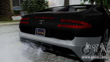 Truffade Adder Hyper Sport para la visión correcta GTA San Andreas