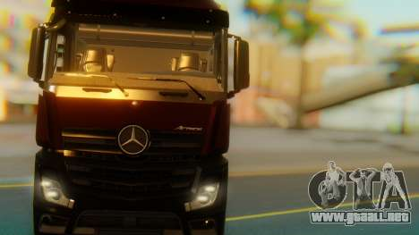 Mercedes-Benz Actros MP4 Stream Space Black para visión interna GTA San Andreas