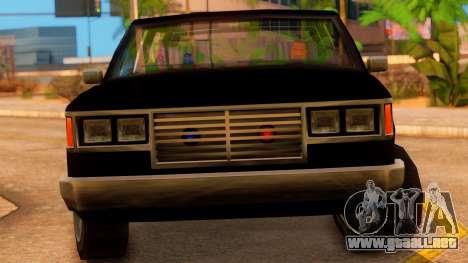 FBI 4-door Yosemite para la visión correcta GTA San Andreas