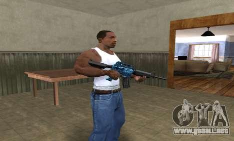 M4 Blue Snow para GTA San Andreas segunda pantalla