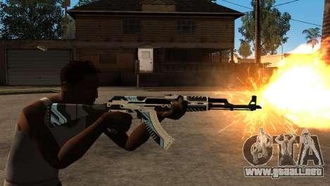 AK-47 Vulcan para GTA San Andreas sucesivamente de pantalla