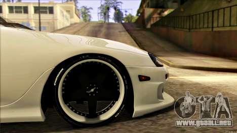 Toyota Supra 1998 E-Design para GTA San Andreas vista hacia atrás