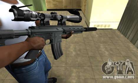 M4 with Optical Scope para GTA San Andreas