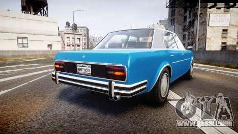 GTA V Benefactor Glendale para GTA 4 Vista posterior izquierda