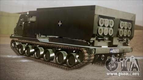 Hellenic Army M270 MLRS para GTA San Andreas left