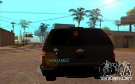 Chevrolet Blazer Berkut para GTA San Andreas vista posterior izquierda