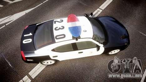 Dodge Charger 2010 LAPD [ELS] para GTA 4 visión correcta