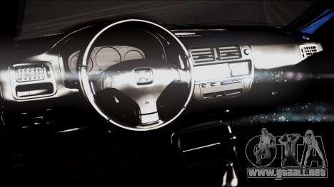 Honda Civic, B. O. De La Construcción para la visión correcta GTA San Andreas