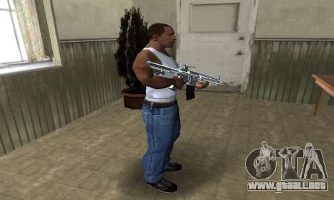 White Cool M4 para GTA San Andreas tercera pantalla