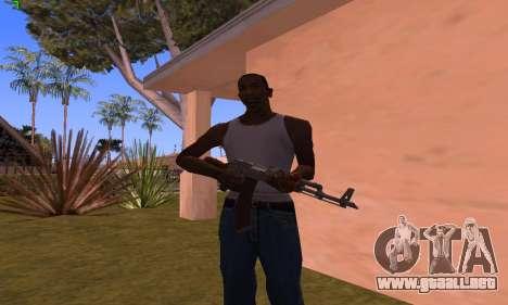 AK-47 from Battlefield Hardline para GTA San Andreas tercera pantalla