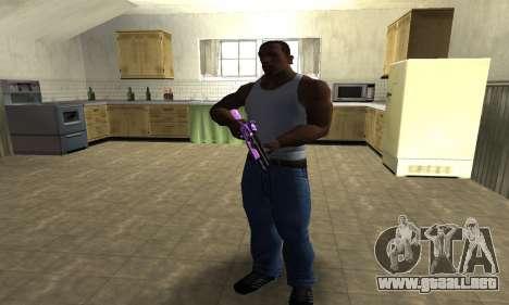 Purple World Shotgun para GTA San Andreas tercera pantalla