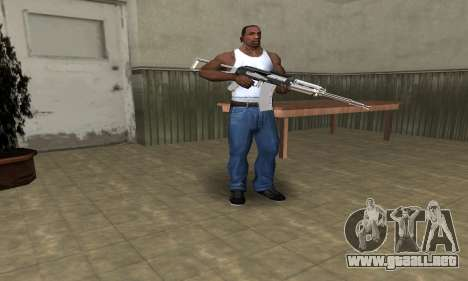 White with Black AK-47 para GTA San Andreas tercera pantalla