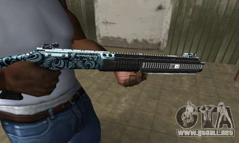 Blue Snow Shotgun para GTA San Andreas