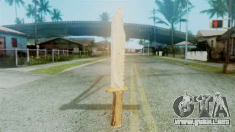 Red Dead Redemption Knife Diego Skin para GTA San Andreas