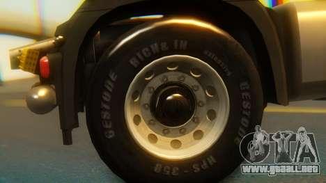 Mercedes-Benz Actros MP4 Stream Space Black para la visión correcta GTA San Andreas