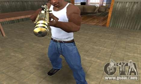 Gold Lines AK-47 para GTA San Andreas segunda pantalla