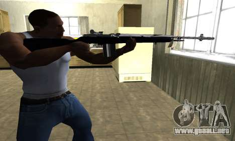 Full Black Rifle para GTA San Andreas segunda pantalla