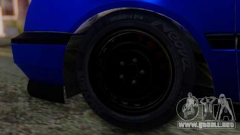 Volkswagen Golf 3 Pink Floyd para GTA San Andreas vista posterior izquierda