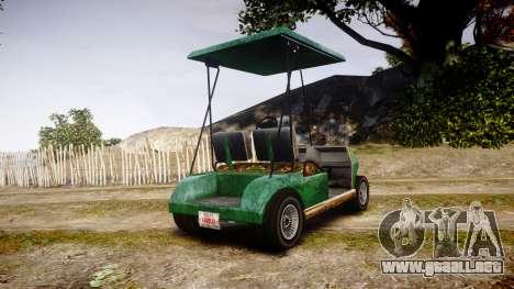 GTA V Nagasaki Caddy para GTA 4 Vista posterior izquierda