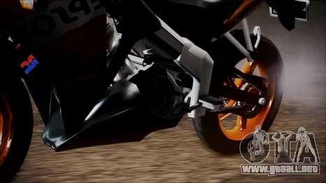 Honda CBR150R Repsol CBU para GTA San Andreas vista posterior izquierda