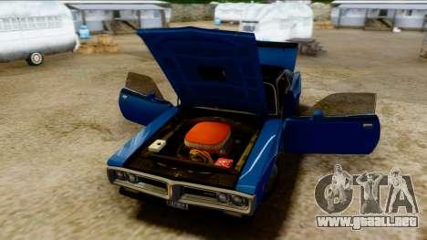 Dodge Charger Super Bee 426 Hemi (WS23) 1971 PJ para GTA San Andreas vista hacia atrás