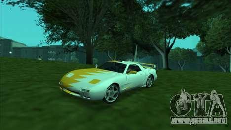 ZR-350 Double Lightning para vista inferior GTA San Andreas