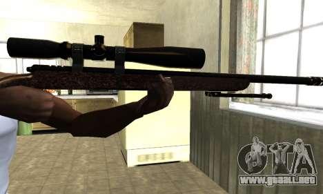 Gold Sniper Rifle para GTA San Andreas tercera pantalla